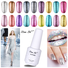 Buy Beau Gel Super Bling 34 Color Platinum Series Nail Polish UV LED Lamp Curing Semi Permenant Soak Nail Lacquer Manicure for $1.48 in AliExpress store