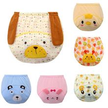 5PCS Reusable Baby Diapers Cloth Diaper Covers Breathable Nappies Baby Pattern Training Pants Birth To Potty 3-15KG Cloth Nappy(China)