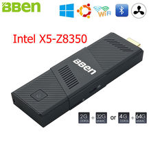 BBen Intel Mini PC Windows 10 Ubuntu Intel X5-Z8350 2GB 4GB Mini PC HDMI USB3.0 USB2.0 PC Mini Computer Business Mobile Micro PC