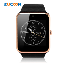 Smart Watch GT08 Passometer with Pulse Fitness Tracker Monitor Wristwatch GPS Hands Free Speaker Support SIM for Androld iOS Men