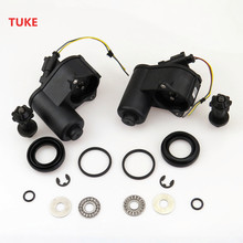 TUKE 2Set Parking Electronic Hand Brake Motor + Connect Screw Plug Cable Harness For VW Passat B6 B7 Tiguan 32332267 1J0973722A(China)