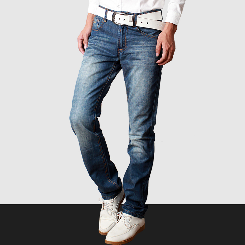 2017 New Fashion Spring Mens Straight Jeans Famous Brand Denim Pants for men Plus Size Bodycon Printed Jeans Pants hot saleОдежда и ак�е��уары<br><br><br>Aliexpress