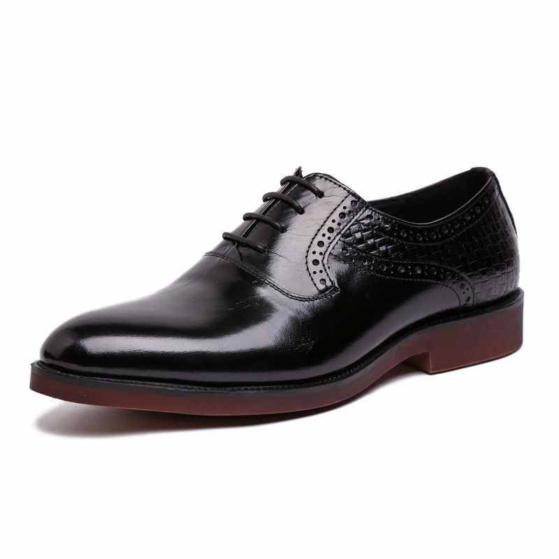 2016 New Fashion Men Shoes Business Genuine Leather Lace-Up Bullock Business Dress shoes for Men Oxfords Shoes Male Formal Shoes<br><br>Aliexpress