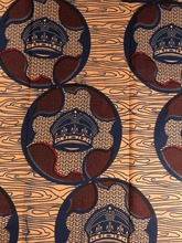 African Textile Real Wax Dark Blue And Brown Hat Figures For Party Dress By the Yard 1YRW205322(China)