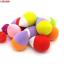 LIXUAN-Egg Water Droplets Shape Unique Fragrance Tool Facial Courd Cotton Sponge Hold Beauty Makeup Make Up Cosmetic Powder Puff