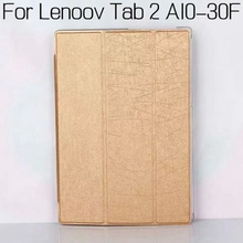 Top Quality Stand Leather Cover for Lenovo Tab 2 A10-30 X30 X30F X30M 10.1 inch Tablet Funda Case+Free Screen Protector+Pen