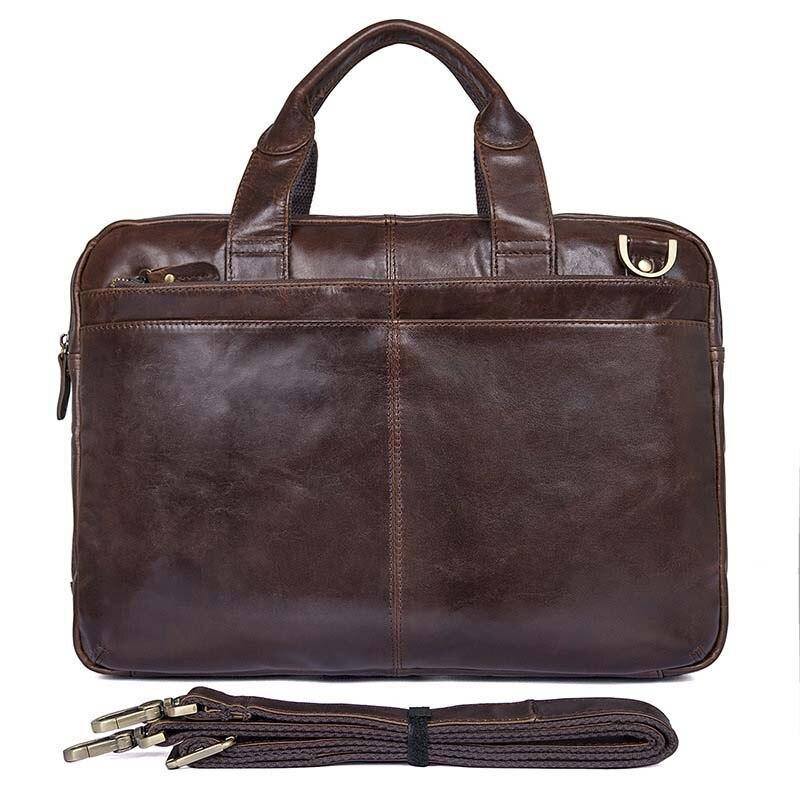 YUESKANGAROO Brand Man Business Briefcase Bag Genuine Leather Men Briefcases Office Work Bags Handbags Laptop bag
