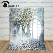 Romantic wedding background Tree Misty Garden Door photo studio backdrop vinyl fabric photography backgrounds