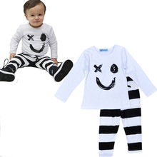 Cotton Newborn Baby Set Girl Boy Clothes Baby garment T shirt +Pant baby girl Costumes infant clothing set newborn