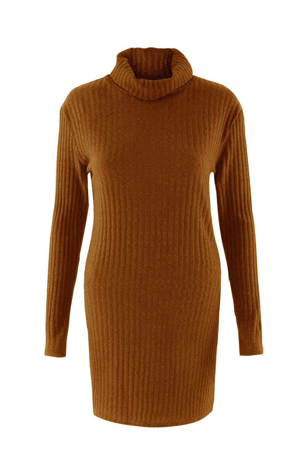 Turtleneck Long knitted pullover sweater, Women's Jumper, Casual Sweater 45