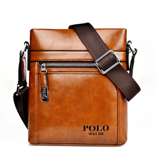 TOP  LEATHER 2017 men Shoulder bags New leisure men's bag business messenger portable briefcase homme POLO crossbody bags