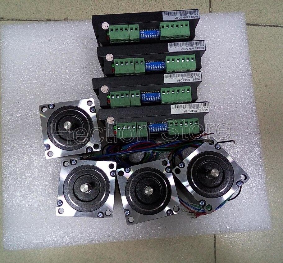 Wholesale 8 pcs a lot 4 Axis CNC control system include 4 pcs stepper motor NEMA 23 (312OZ=2.2NM) +4 pcs stepper driver M542-DSP<br>