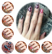 (10 pieces/lot) A4 size clear/transparent color laser printing water transfer nail stickers