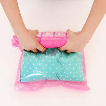 2 pieces travel hand scroll vacuum compression bag convenient waterproof clothing bag Travel store sack hot sales free shipping