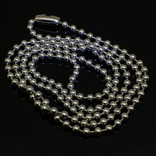 Customizes 2mm Silver Tonealloy Ball Bead Chain Necklace Bracelet Keychain Women Bag Dog Tag Gift Party Jewelry N-060