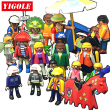 Playmobil Action Figures Set toy Summer Fun City Life Farm Funs Park Playmob Models Kids Toys Gift