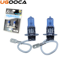2 x H3 Xenon Halogen Car Auto HeadLight Bulb Kit 5000K 12V 55W(China)