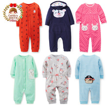 2017 New Baby boy Girl Cotton Romper One-piece Long-sleeve Pant Overall Infant Sleepwear Play Spring Fall Clothing 3m 6m 9m 12m(China)