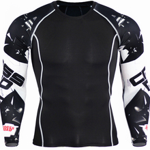 Long Sleeve Skin Rash Guard Complete Graphic Compression Shirts Multi-use Fitness MMA Crossfit Tops Shirts