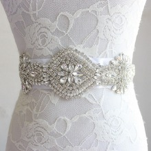 CHENLVXIE Luxury Custom Wedding Belt Bridal Sash Wedding Bridal Belt Crystal Sash Rhinestone Sash Jeweled Belt Wedding Gown Belt