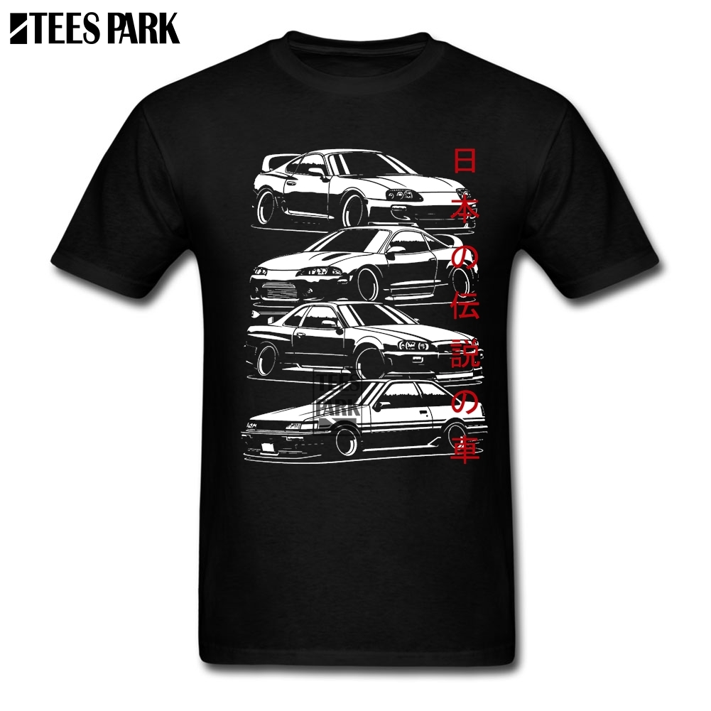 Costume T-Shirt JDM Legends Designer T Shirts Man Round Collar Tee Shirt Plus Size Male Small Size T Shirt 2019 Fashion Summer