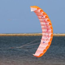 Hot Outdoor Sports Power Dual Line Stunt Parachute Rainbow Sports Beach Kite For Beginner Toys Shipping From US(China)