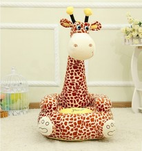High Quality Kids Giraffe Plush Stuffed Sofa  Giraffe Soft Stuffed Stool innovation Sofa Factory Supply