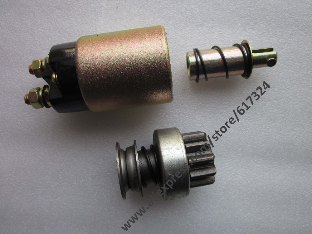 Laidong KAMA LL380,KM385T, the solenoid switch for starter motor (non gear reduction type) QD132A<br>