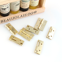 cabinet Golden Mini iron hinge 15x10x0.5 copper plating small furniture hinges 20pcs