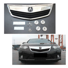 Acura TSX Front Grill for Honda Accord/Inspire/TSX 2008-2013 Chrome with Emblems Re-Styling Body Kits(China)