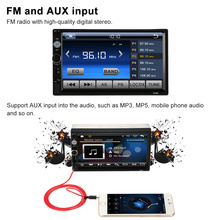 Universal 2 Din HD Bluetooth USB/TF FM Aux Input Car Radio MP5 Player Multimedia Radio Entertainment with HD Rear View Camera