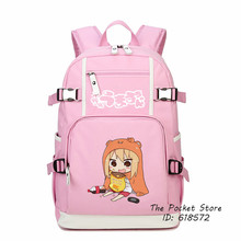 High Quality Cartoon Himono Onna Kawaii Women Backpack Lolita Printing Backpack Canvas School Bags for Girls Laptop Backpack