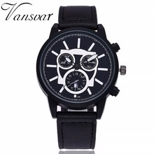 2017 New Popular Vansvar Men's Delicacy Quartz Watch Mens Top Brand Quartz Noble Watch Classic Luxury Military Watch Hot Selling(China)