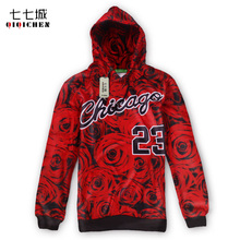 New 3D Print Red Rose Chicago Jordan 23 Hoodies Men/Women Long Sleeve Harajuku Flower Streetwear Hip Hop Sweatshirt Tracksuit(China)