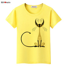 BGtomato super cool elegant cat T-shirts for women originality design fashion 3D shirts Brand good quality soft casual tops