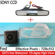 "Auto Parking CCD HD 4.3"" Car Rearview Mirror Monitor , LED Night Vision Car RearView Camera for Ford Edge Escape Mercury Mariner"