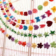 Buy Hanging paper flowers Christmas artificial flowers garland birthday wedding flowers decorative flowers & wreaths baby shower for $1.89 in AliExpress store