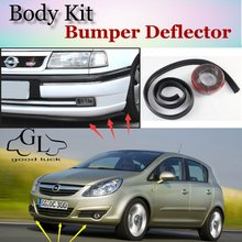 Bumper Lip Lips For Opel Corsa C D Vita Barina / GOOD LUCK Shop Spoiler For Car Tuning / TOPGEAR Recommend Body Kit + Strip(China)