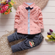 2016 Spring 2-3Years Baby Clothing Sets Monkey Children Boys Girls Kids Suits Tracksuits Cotton Long Sleeve Shirt + Pants 2pcs