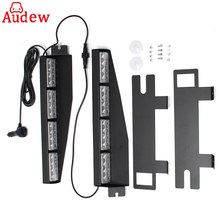 32LED Car Emergency Warning Strobe Visor led Light Split Mount Deck Dash Lightbar(China)