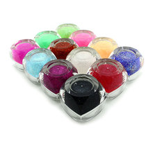 12 colors Glitter Gel 8ml uv gel polish shiny dust powder nail gel for nail art