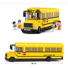 392pcs School Bus Building Block Yellow Bus Building Block Eductional Toy Sluban Building Block DIY Bricks Compatible With Lego