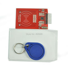 5pcs/lot RC522 RFID Module with  IC Card  S50 Fudan Cards Key Chains for Arduino Provide  Development Code  FZ0542