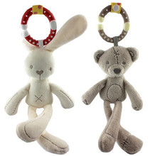 Baby Soft Rabbit  Bunny bear Plush Doll Baby Stroller Crib Bed Hanging Animal  Kids Toy 11%