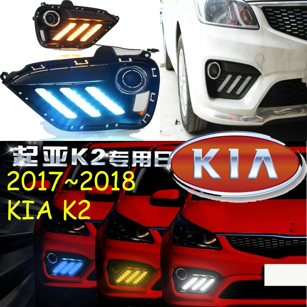 2017 2018year,KIA K2 day light,rio fog lamp,Free ship!LED,k2 fog light,kia ceed,2ps/set;sorento,kx5,kx3,,k3;kia cerato<br>