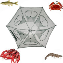 New Folded Portable Hexagon 6 Hole Fishing Shrimp Trap Fishing Net Fish Shrimp Minnow Crab Baits Cast Mesh Trap Hot Sale