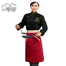Half Waist Chef Apron With 2 Pockets Waiter Kitchen Cook Sleeveless Cotton Aprons Antifouling Wear Waist Aprons Restaurant Cafe