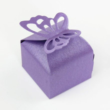 10PCS Butterfly Laser Cut Candy Gift Boxes Wedding Party Favor Box Butterfly Wedding Box Party Candy Box Wedding Favors N306-2(China)