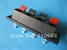 10 Pcs  64.5mmx17.6mm 4pin Red and Black Spring Push Type Speaker Terminal Board Connector WP4-7