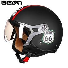 BEON Motorcycle Helmet Chopper 3/4 Open Face Vintage Helmet B10071 Moto Casque Casco motocicleta Capacete Retro helmets